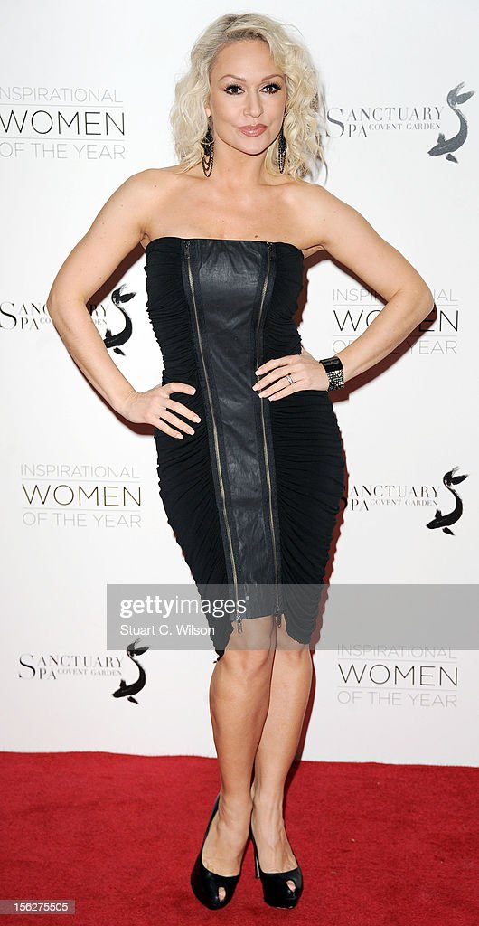 Kristina Rihanoff attends The Daily Mail Inspirational Women of the Year Awards sponsored by Sanctuary Spa and in aid of Wellbeing of Women at Marriott Hotel Grosvenor Square on November 12, 2012 in London, England.