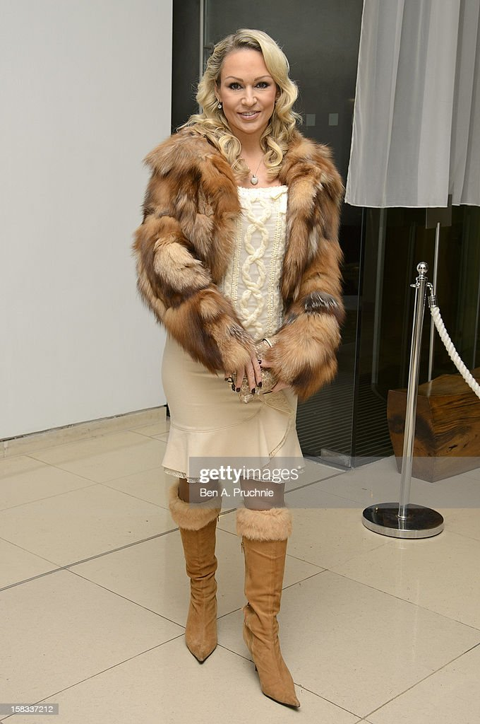 Kristina Rihanoff attends the English National Ballets Christmas Party at St Martins Lane Hotel on December 13, 2012 in London, England.