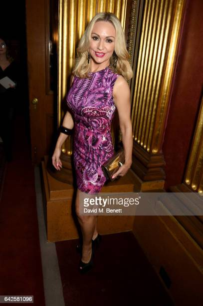 Kristina Rihanoff attends the Julien Macdonald show during the London Fashion Week February 2017 collections on February 18 2017 in London England