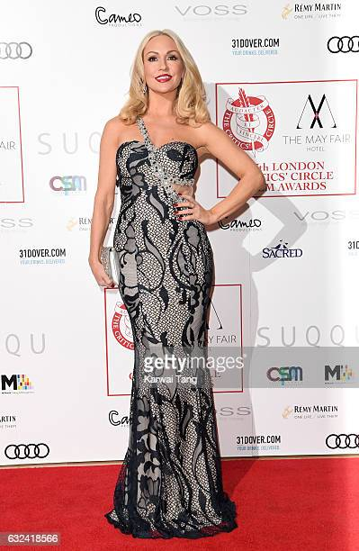 Kristina Rihanoff attends The London Critic's Circle Film Awards at the Mayfair Hotel on January 22 2017 in London United Kingdom