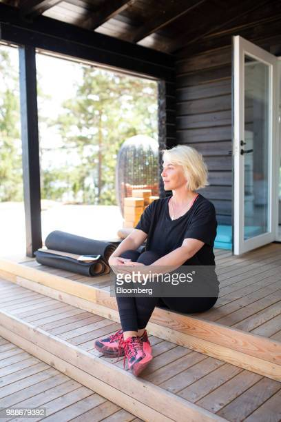 Kristina Roth founder of the SuperShe network poses for a photograph on SuperShe island near Raasepori Finland on Wednesday June 27 2018 The price of...