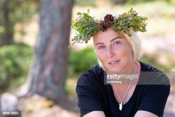 Kristina Roth, founder of the SuperShe network, poses for a photograph on SuperShe island near Raasepori, Finland, on Wednesday, June 27, 2018. The...