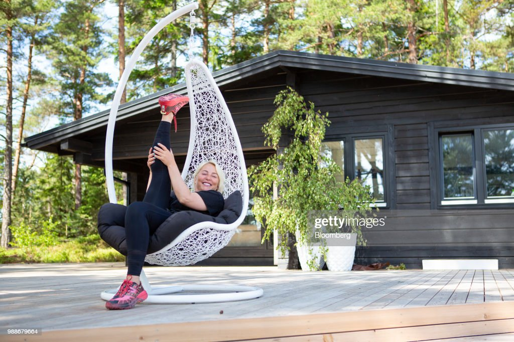 Kristina Roth, founder of the SuperShe network, poses for a photograph on SuperShe island near Raasepori, Finland, on Wednesday, June 27, 2018. The price of experimental networking on the island that has banned men, and only accepts heavily vetted women, is 4,000 euros, or $4,600. The package includes self-help tools that can lead participants down a different career path, as well as cognitive training to expel any negative thoughts. Photographer: Heli Blafield/Bloomberg via Getty Images