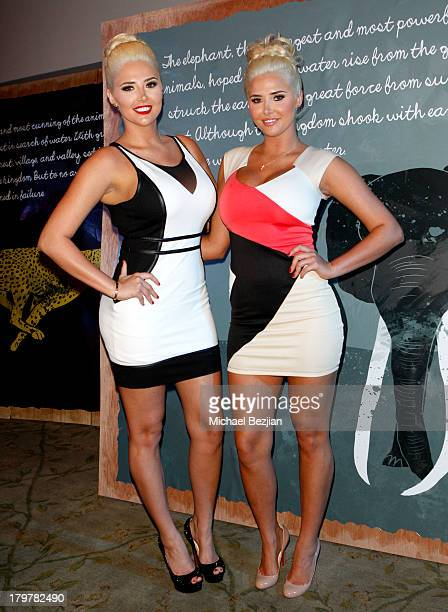 Kristina Shannon and Karissa Shannon attend Generosity Water presents the 5th Annual Night Of Generosity at Beverly Hills Hotel on September 6, 2013...