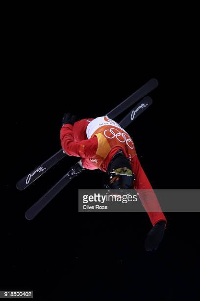 Kristina Spiridonova of Olympic Athlete from Russia warms up ahead of the Freestyle Skiing Ladies' Aerials Qualification on day six of the...