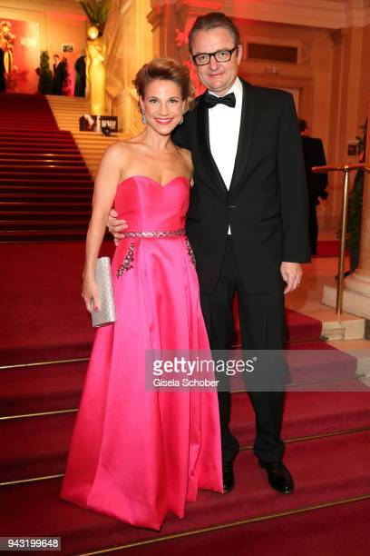 Kristina Sprenger and Gerald Gerstbauer during the 29th ROMY award at Hofburg Vienna on April 7 2018 in Vienna Austria