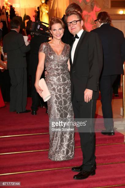 Kristina Sprenger and Gerald Gerstbauer during the ROMY award at Hofburg Vienna on April 22 2017 in Vienna Austria