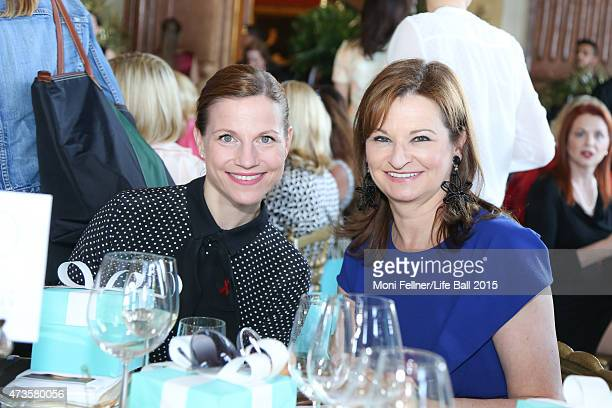 Kristina Sprenger and Susanne RiessPasser attend the Life Ball 2015 first ladies lunch at Belvedere Palace on May 16 2015 in Vienna Austria The Life...