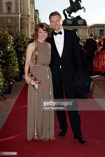 Kristina Sprenger attends the 23nd KURIER ROMY Gala at the Hofburg on April 16 2011 on April 21 2012 in Vienna Austria