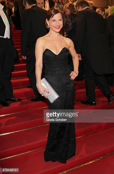 Kristina Sprenger attends the traditional Vienna Opera Ball at Vienna State Opera on February 27 2014 in Vienna Austria