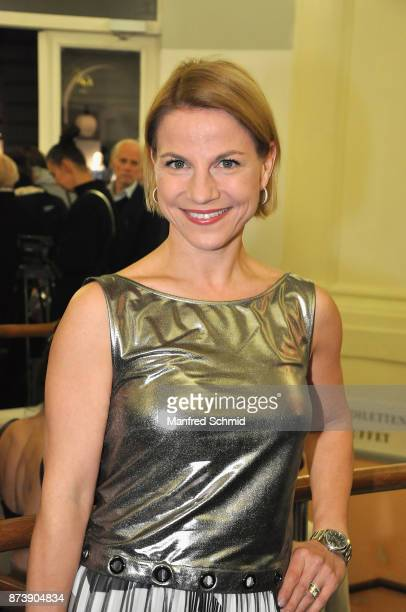 Kristina Sprenger poses during the Nestroy Theatre Award at Ronacher Theater on November 13 2017 in Vienna Austria