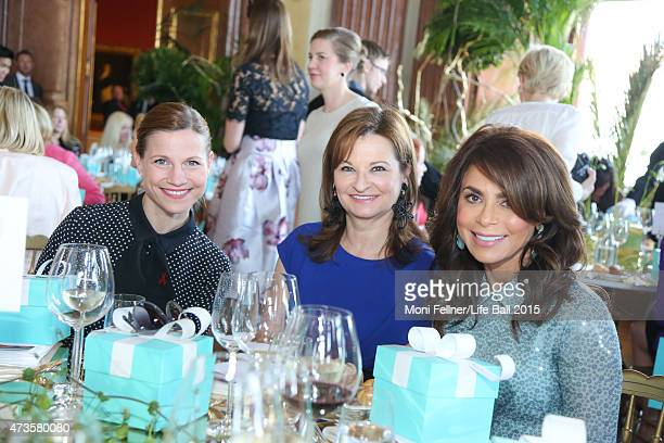 Kristina Sprenger Susanne RiessPasser and Paula Abdul attend the Life Ball 2015 first ladies lunch at Belvedere Palace on May 16 2015 in Vienna...
