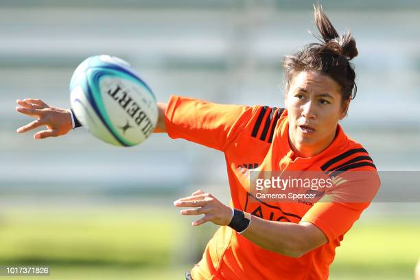 Joanah NganWoo of the Black Ferns tackles during a New Zealand Black Ferns training session at Coogee Oval on August 16 2018 in Sydney Australia
