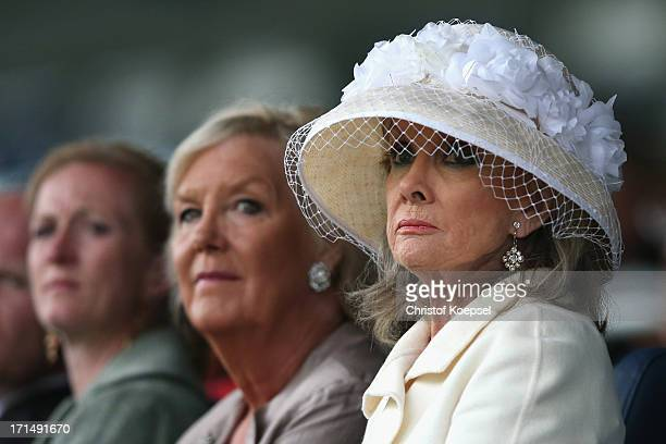 Kristina Tholstrup wife of Roger Moore looks on during the Opening Ceremony during day one of the 2013 CHIO Aachen tournament on June 25 2013 in...
