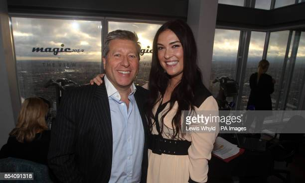 Kristina Train and Neil Fox on broadcasts Europe's highest breakfast show as Magic 1054 go live from the 69th floor of the Shard in London