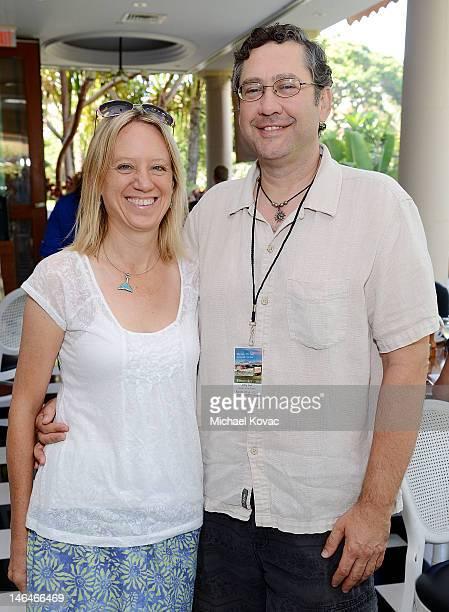 Kristina Vasic and filmmaker Jonny Vasic attend the Filmmakers Brunch at Longhi's Maui at the 2012 Maui Film Festival on June 16 2012 in Wailea Hawaii