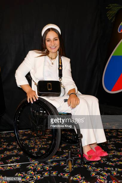 """Kristina Vogel during the UNO """"Playing for Good"""" event at Soho House on September 2, 2021 in Berlin, Germany."""
