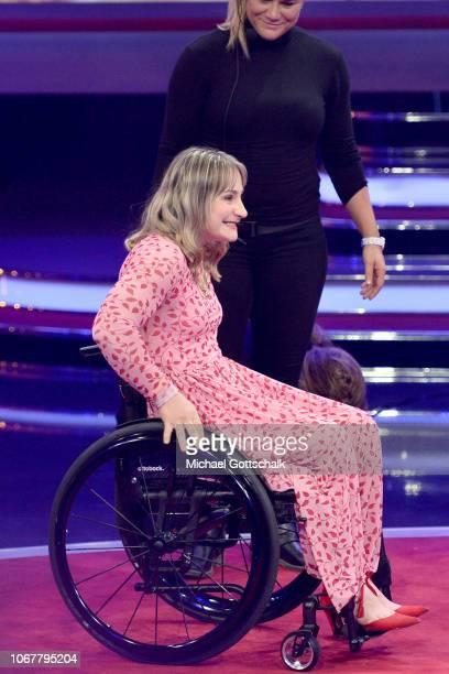 Kristina Vogel is seen on stage during the tv show '2018 Menschen Bilder Emotionen' on December 3 2017 in Cologne Germany
