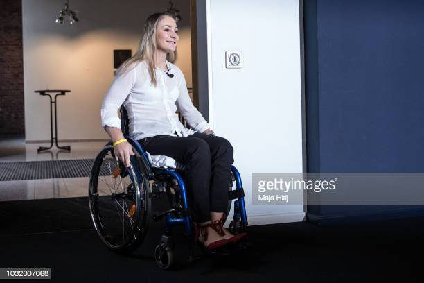 Kristina Vogel Track Cycling Olympic Gold Medalist arrives to a press conference at Accident Hospital on September 12 2018 in Berlin Germany On June...