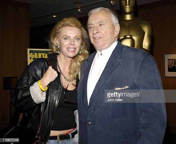 Kristina Wayborn and Gore Vidal during The Greta Garbo Centennial Hosted by Academy of Motion Picture Arts and Sciences at Academy Of Motion Picture...