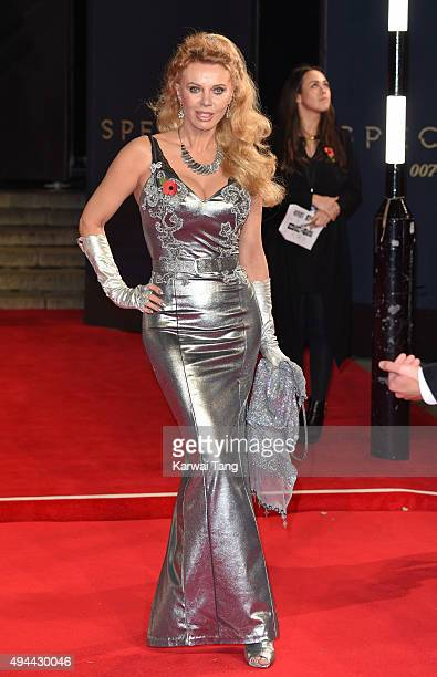 Kristina Wayborn attends the Royal Film Performance of Spectre at the Royal Albert Hall on October 26 2015 in London England