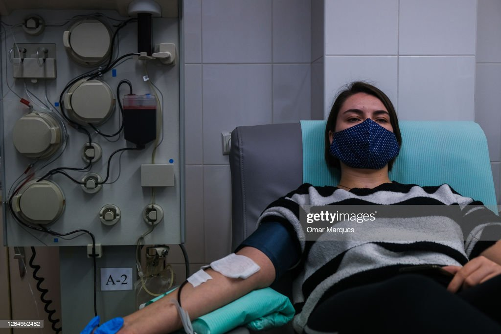 Krakow's Blood Bank Collects Plasma From COVID-19 Convalescents : News Photo