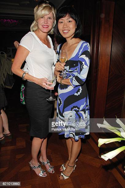 Kristina Younger and Susan Song attend JIMMY CHOO Cocktail Party at Rose Club at the Plaza NYC on August 6 2008