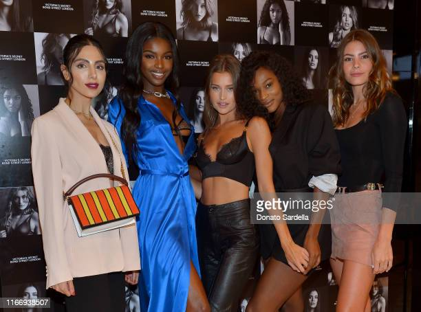 Kristine Agabaian Leomie Anderson Lexi Wood Uche Nwosu and Mackenzie Altig attend Victoria's Secret debuts new Fall Collection with Angel Leomie...