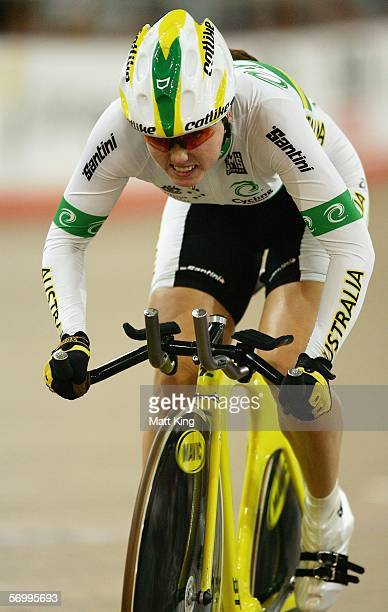 Kristine Bailey of Australia competes in the Womens 500m Time Trial during day two of the 2006 UCI Track Cycling World Cup at the Dunc Gray Velodrome...
