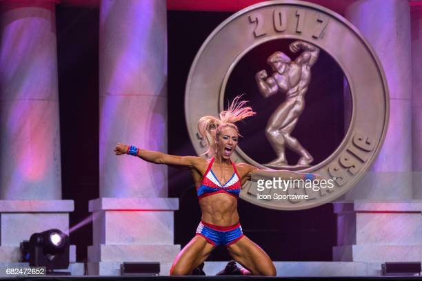 Kristine Duba competes in Fitness International as part of the Arnold Sports Festival on March 3 at the Greater Columbus Convention Center in...