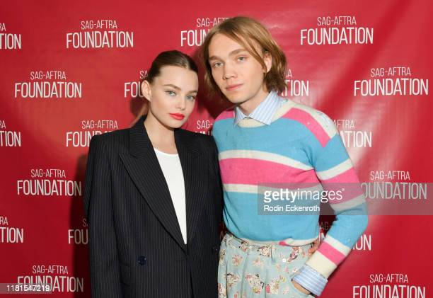 Kristine Froseth and Charlie Plummer pose for portrait at the SAGAFTRA Foundation Conversations with Looking For Alaska at SAGAFTRA Foundation...
