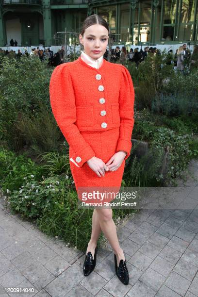 Kristine Froseth attends the Chanel Haute Couture Spring/Summer 2020 show as part of Paris Fashion Week on January 21 2020 in Paris France