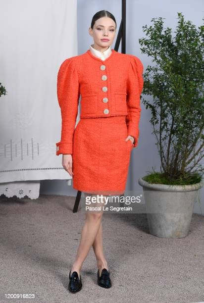 Kristine Froseth attends the Chanel Haute Couture Spring/Summer 2020 show as part of Paris Fashion Week at Grand Palais on January 21 2020 in Paris...