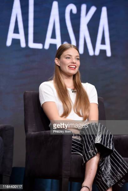 Kristine Froseth speaks onstage during the Hulu 2019 Summer TCA Press Tour at The Beverly Hilton Hotel on July 26 2019 in Beverly Hills California