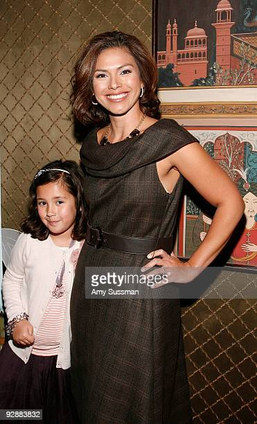 Kristine Johnson of CBS News and her daughter Ava attend the Tea Party Angels launch at Doubles on November 7 2009 in New York City