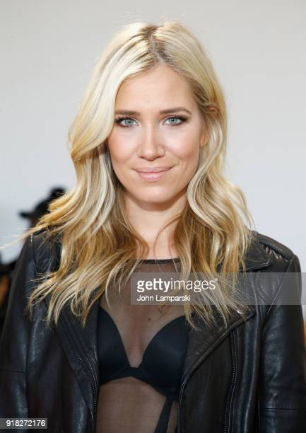 Kristine Leahy attends Leanne Marshall show during February 2018 New York Fashion Week The Shows at Gallery II at Spring Studios on February 14 2018...