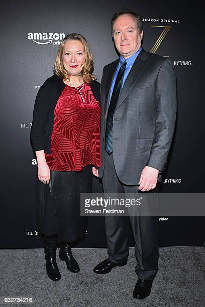 Kristine Nielsen and Brent Langdon attend Amazon's New Series 'Z The Beginning of Everything' Premiere at SVA Theater on January 25 2017 in New York...