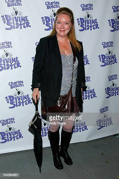 Kristine Nielsen attends 'The Divine Sister' opening night curtain call at the Soho Playhouse on September 22 2010 in New York City