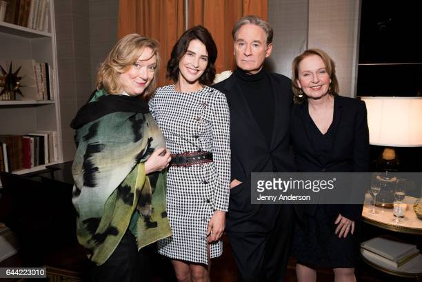 Kristine Nielsen Cobie Smulders Kevin Kline and Kate Burton attend 'Present Laughter' cast meet and greet at The Royal Suite at The Carlyle on...
