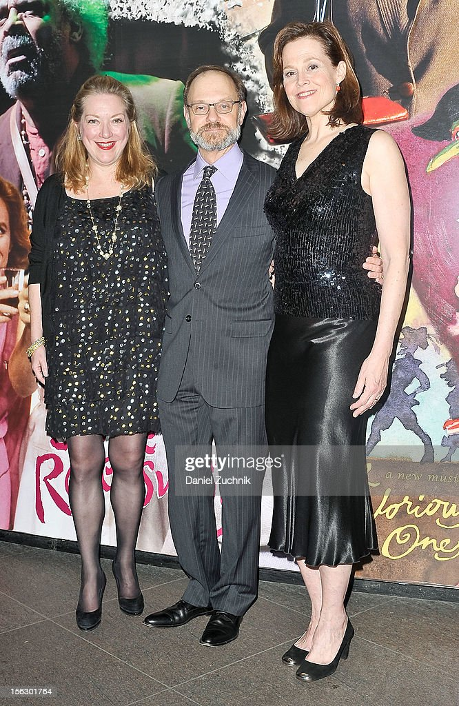 Kristine Nielsen, David Hyde Pierce and Sigourney Weaver attends the 'Vanya and Sonia and Masha and Spike,' press night at Mitzi E. Newhouse Theater on November 12, 2012 in New York City.