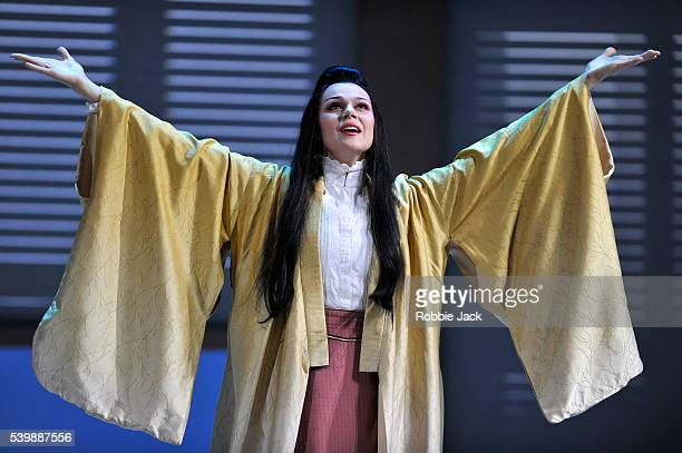 Kristine Opolais as Cio-Cio-San in the Royal Opera's production of Giacomo Puccini's Madama Butterfly directed by Moshe Leiser and Patrice Caurier...