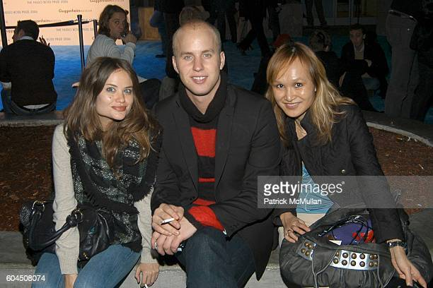 Kristine Ratliff Patrick Emanuel and Trang Chuong attend The HUGO BOSS Prize 10th Annual Party at Guggenheim Museum on November 14 2006 in New York...