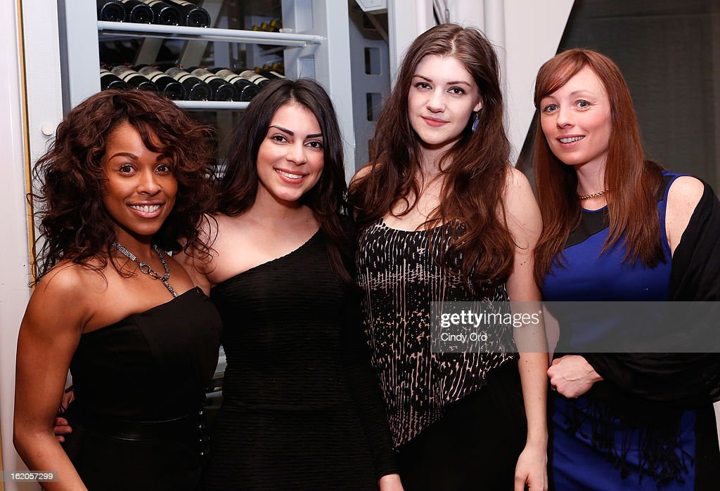 Kristine Sanabria, Jasmine Ruiz, Emily Kaczmarek and Mimi Doherty attend the Gotham Magazine & Moroccanoil Celebrate With Step Up Women's Network event on February 18, 2013 in New York City.