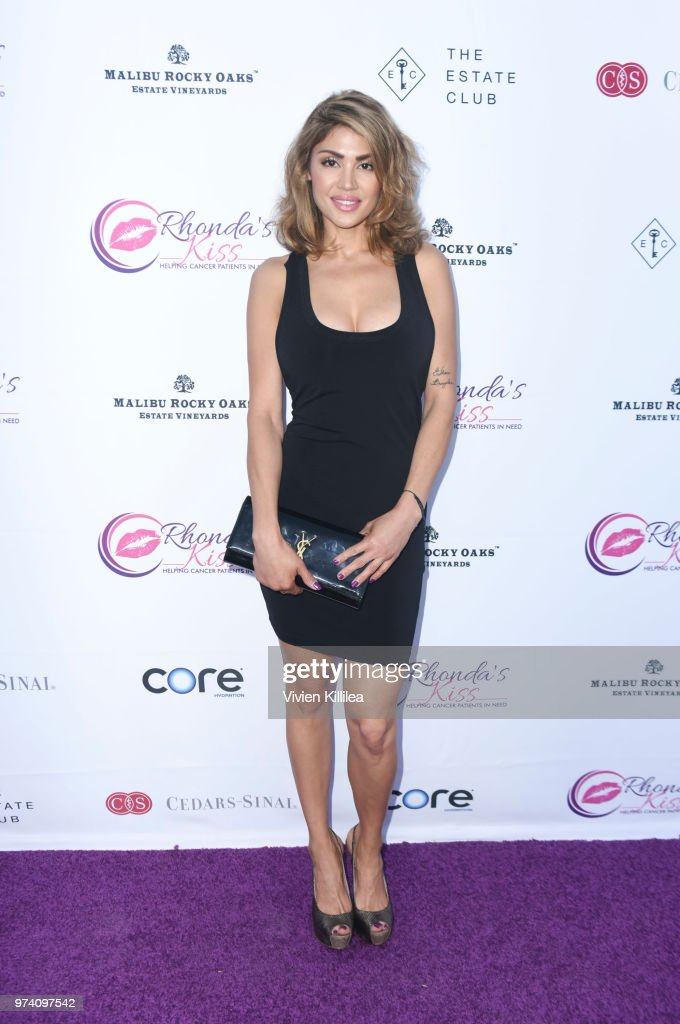 Kristine Stokes attends Rhonda's Kiss 'Kiss The Stars' Cancer Fundraising Dinner at The Estate Club's Sky Castle Estate on June 13, 2018 in Los Angeles, California.
