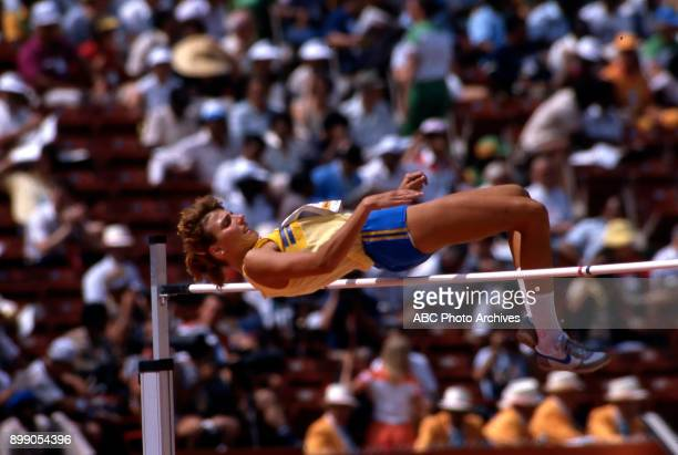Kristine Tannander Women's heptathlon / high jump competition Memorial Coliseum at the 1984 Summer Olympics August 3 1984