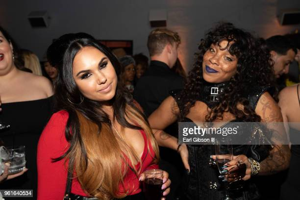 Kristinia Debarge and Briana Latrise attend the afterparty for the Premiere Of WEtv's Growing Up Hip Hop Season 4 on May 22 2018 in West Hollywood...