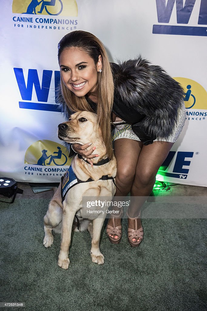 Kristinia DeBarge attends the WETv 'Pet Project' To Raise Awareness For Canine Companions For Independence at Boulevard3 on May 7, 2015 in Hollywood, California.