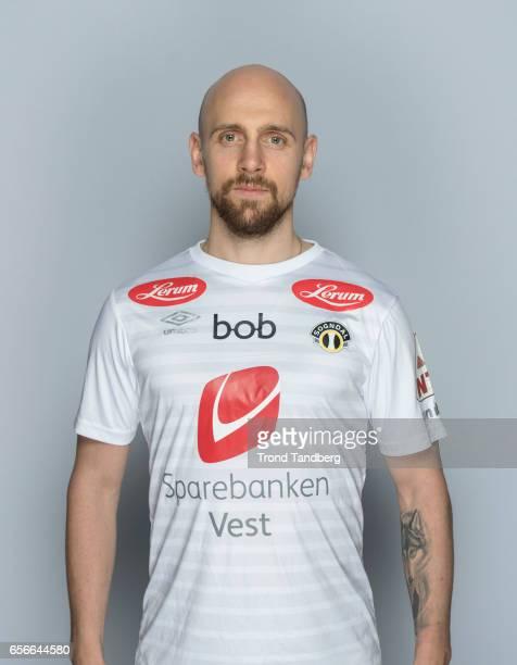 Kristinn Jonsson of Team Sogndal Fotball during Photocall on March 22 2017 in Sogndal Norway