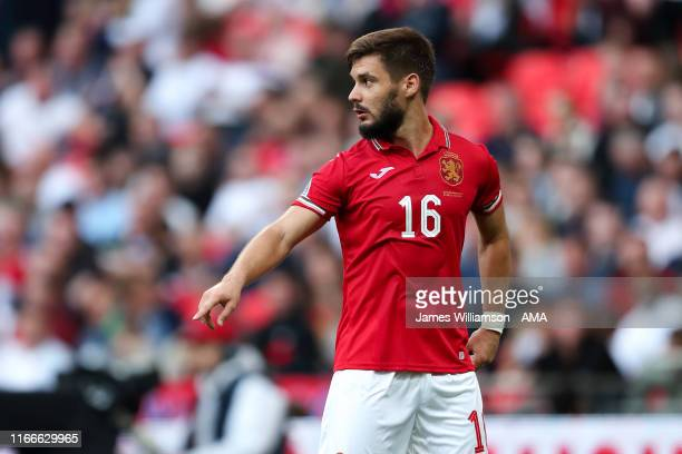 Kristiyan Malinov of Bulgaria during the UEFA Euro 2020 qualifier match between England and Bulgaria at Wembley Stadium on September 7, 2019 in...