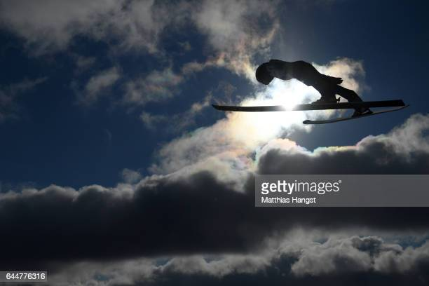 Kristjan Ilves of Estonia competes in the Men's Nordic Combined HS100 during the FIS Nordic World Ski Championships on February 24 2017 in Lahti...